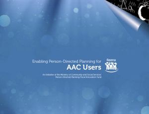 Enabling Person Directed Planning for AAC Users - Guide Book