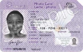 Ontario photo card