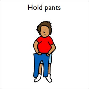 step 1 hold pants